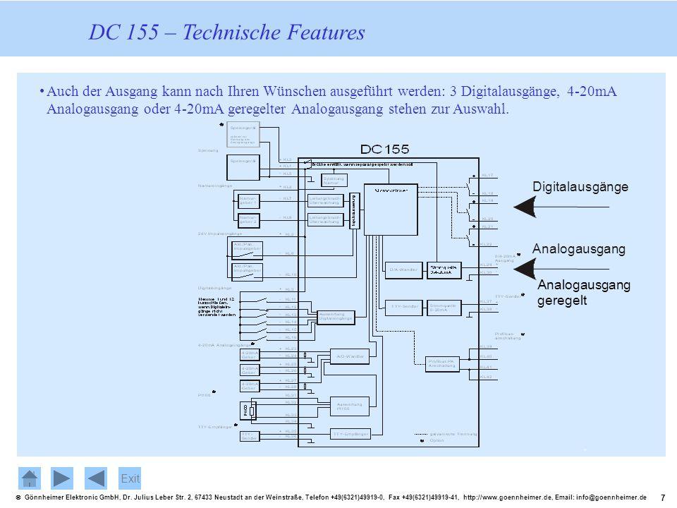 DC 155 – Technische Features