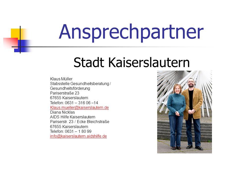 Ansprechpartner Stadt Kaiserslautern Klaus Müller