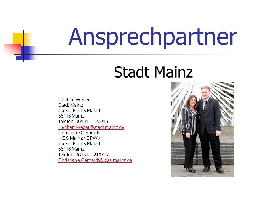 Ansprechpartner Stadt Mainz Heribert Weber Stadt Mainz