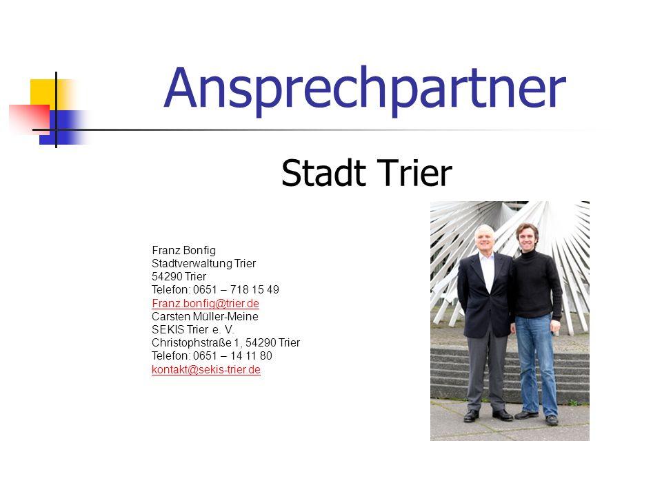 Ansprechpartner Stadt Trier Franz Bonfig Stadtverwaltung Trier