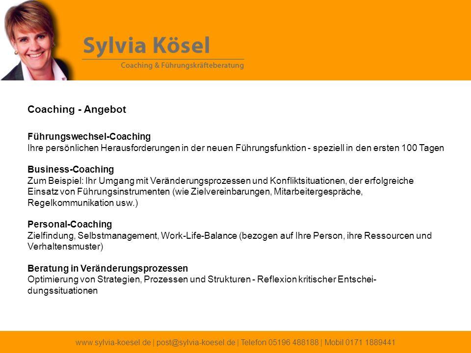Coaching - Angebot Führungswechsel-Coaching Ihre persönlichen Herausforderungen in der neuen Führungsfunktion - speziell in den ersten 100 Tagen.
