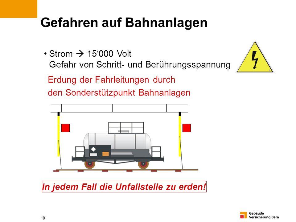 Gefahren auf Bahnanlagen