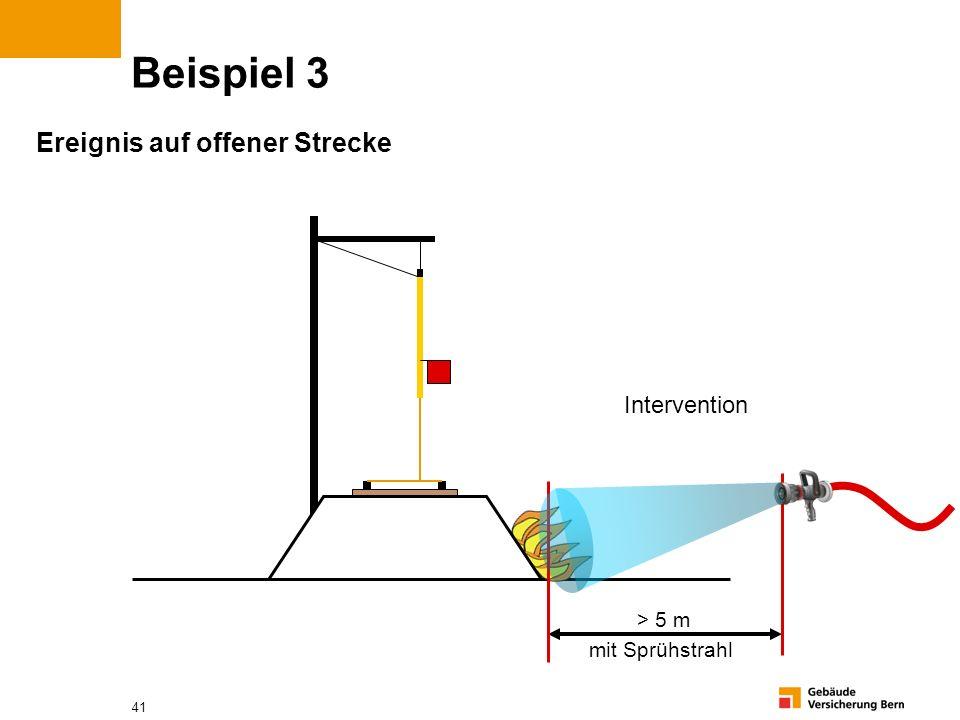 Beispiel 3 Ereignis auf offener Strecke Intervention > 5 m