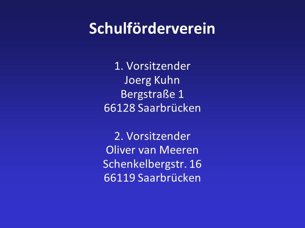 Schulförderverein 1. Vorsitzender Joerg Kuhn Bergstraße 1