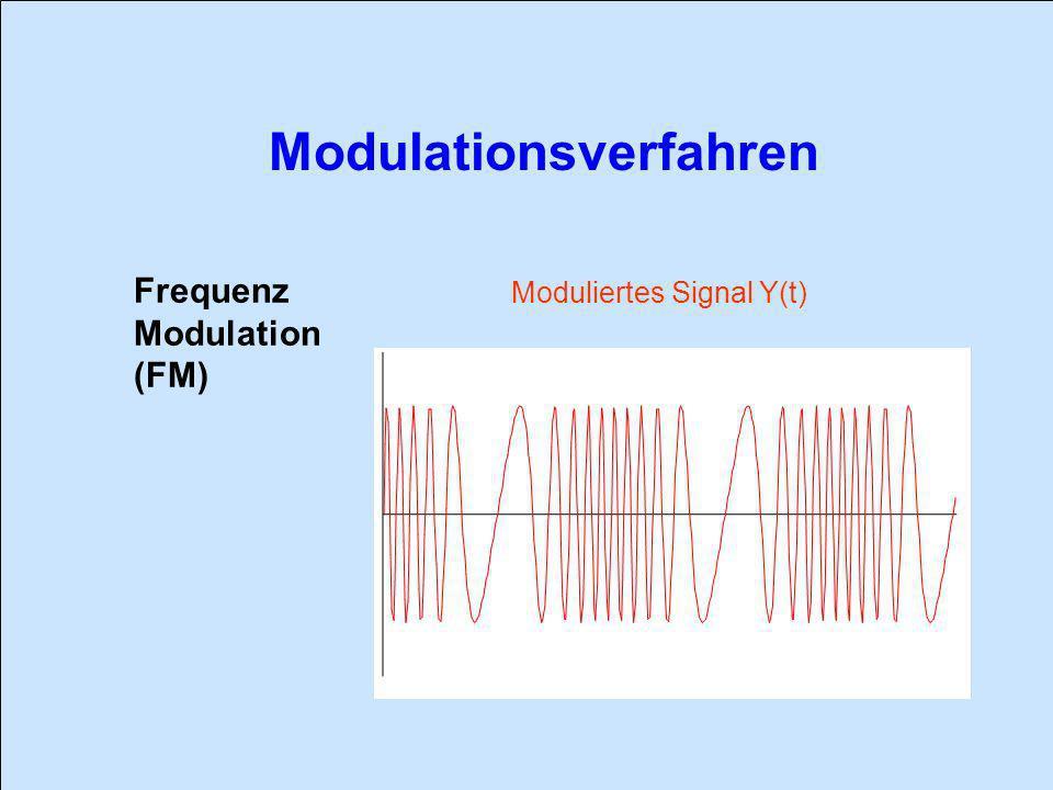 Frequenz Modulation (FM) Moduliertes Signal Y(t)