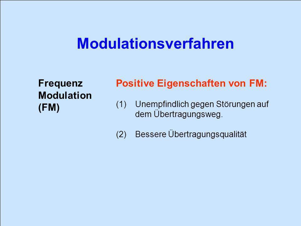 Positive Eigenschaften von FM: