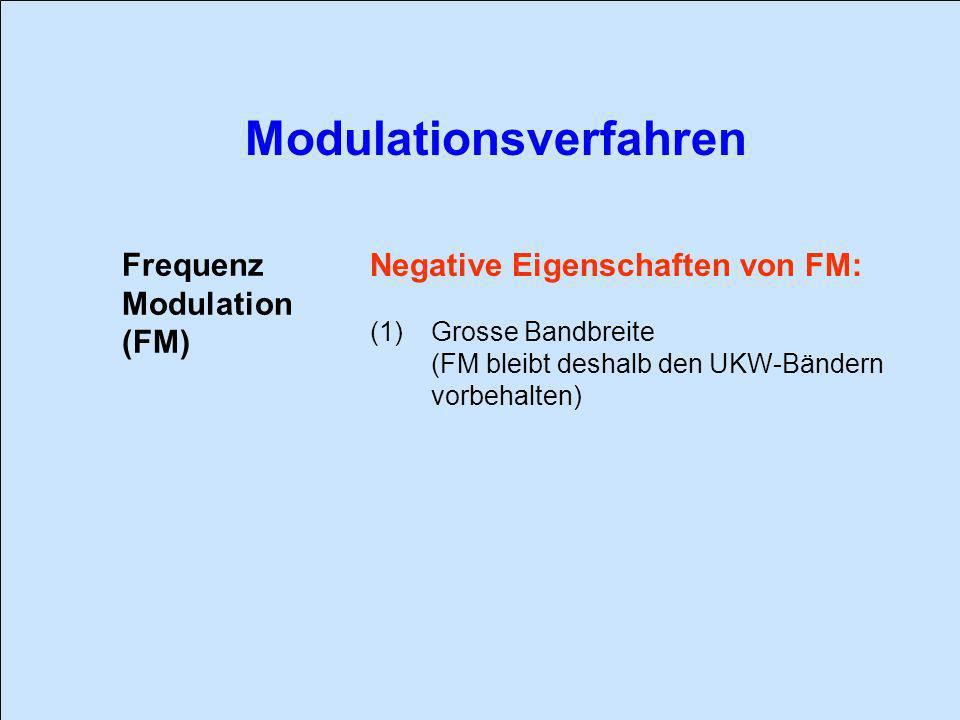 Negative Eigenschaften von FM: