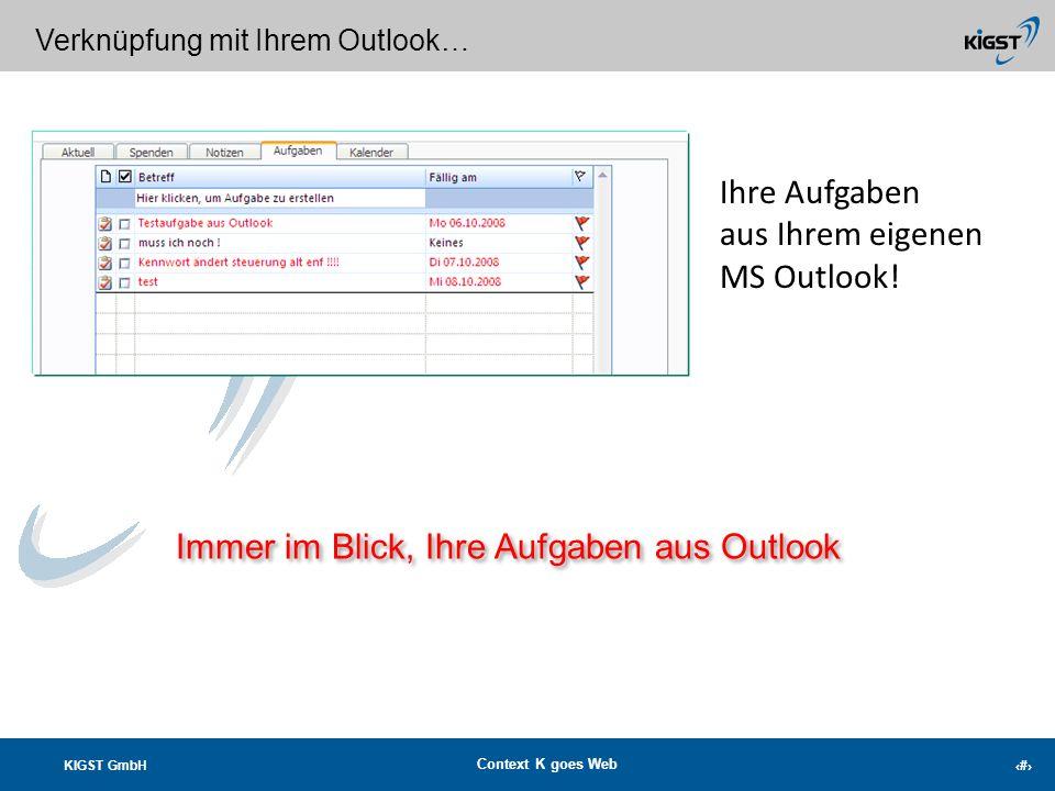 Immer im Blick, Ihre Aufgaben aus Outlook