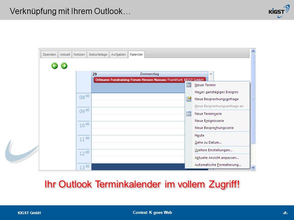 Ihr Outlook Terminkalender im vollem Zugriff!