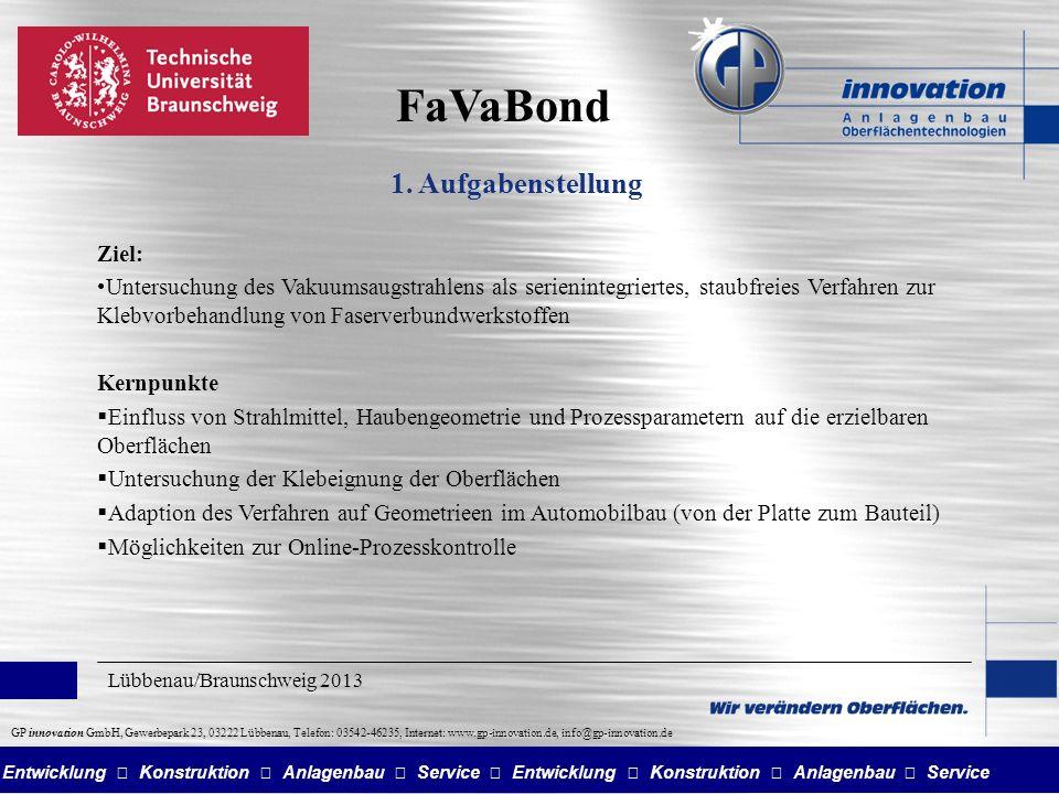 FaVaBond 1. Aufgabenstellung Ziel: