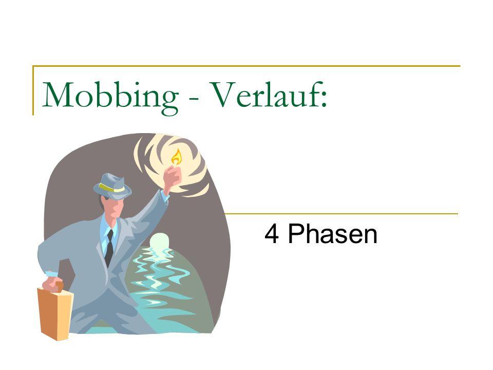Mobbing - Verlauf: 4 Phasen