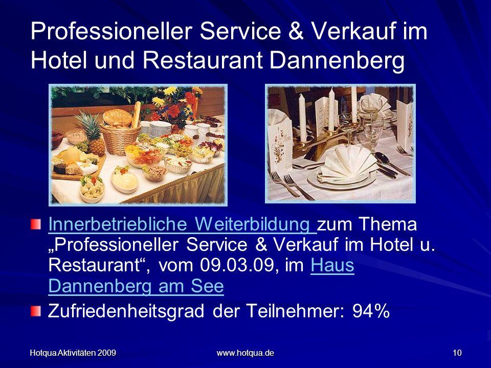 Professioneller Service & Verkauf im Hotel und Restaurant Dannenberg