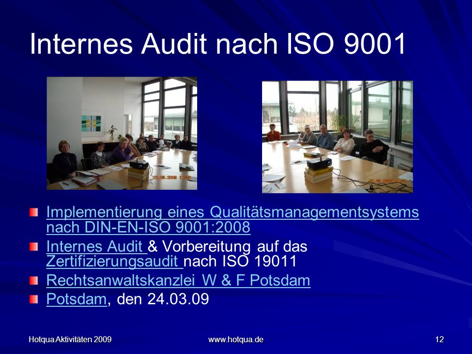 Internes Audit nach ISO 9001