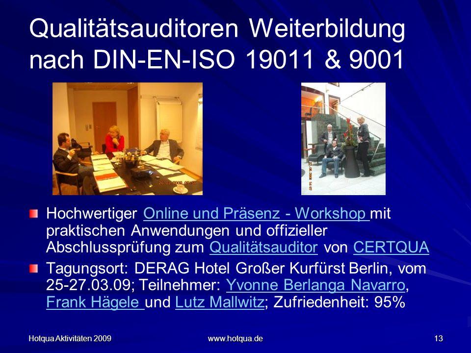 Qualitätsauditoren Weiterbildung nach DIN-EN-ISO 19011 & 9001