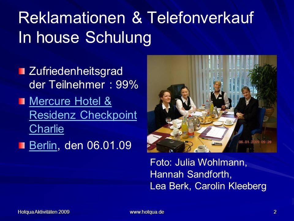 Reklamationen & Telefonverkauf In house Schulung