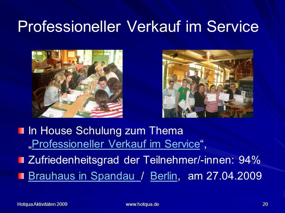 Professioneller Verkauf im Service