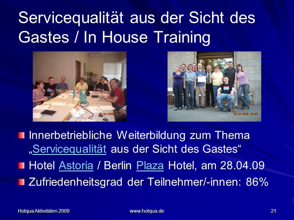Servicequalität aus der Sicht des Gastes / In House Training
