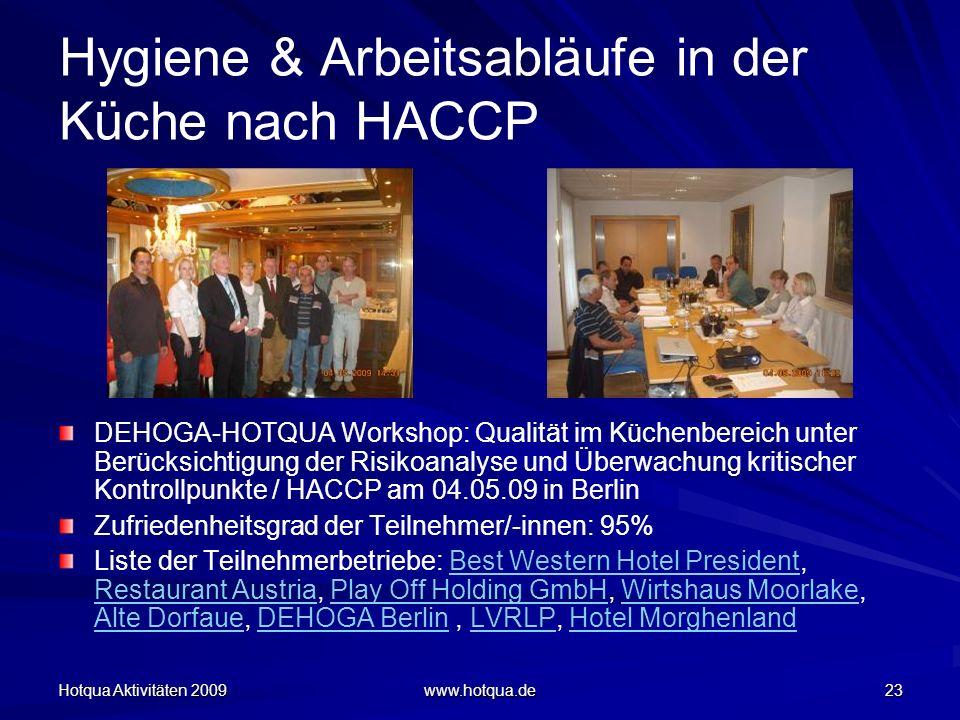 Hygiene & Arbeitsabläufe in der Küche nach HACCP