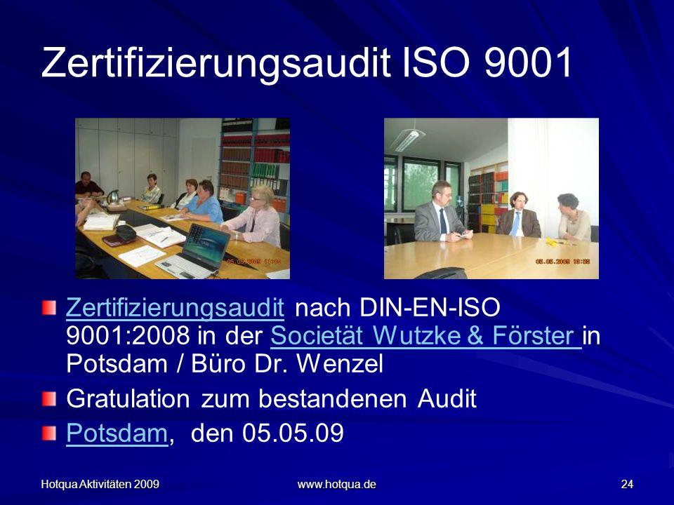 Zertifizierungsaudit ISO 9001