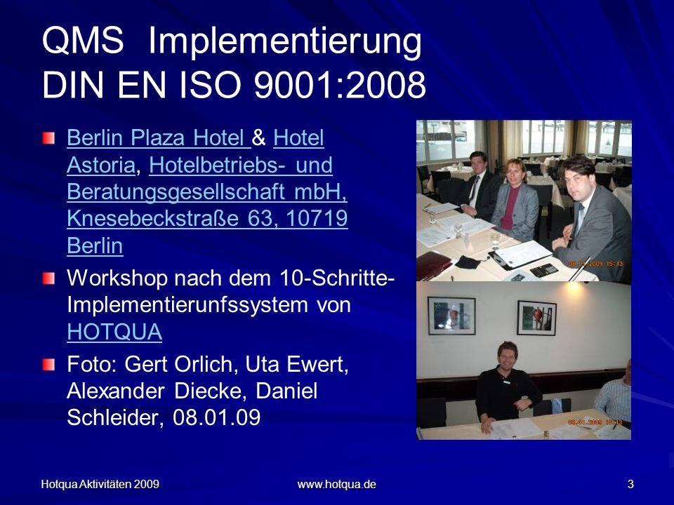 QMS Implementierung DIN EN ISO 9001:2008