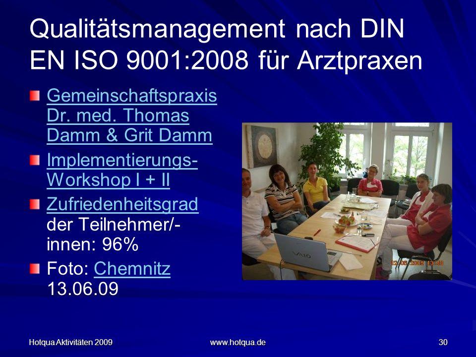 Qualitätsmanagement nach DIN EN ISO 9001:2008 für Arztpraxen