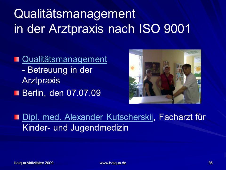 Qualitätsmanagement in der Arztpraxis nach ISO 9001