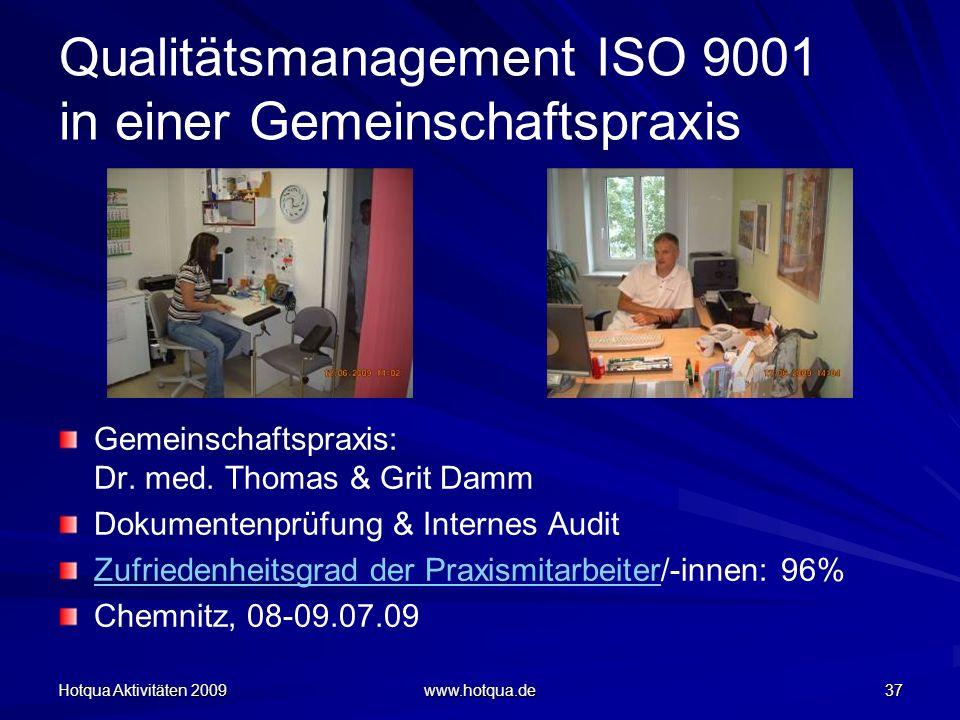 Qualitätsmanagement ISO 9001 in einer Gemeinschaftspraxis