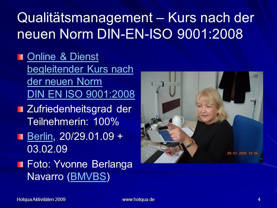Qualitätsmanagement – Kurs nach der neuen Norm DIN-EN-ISO 9001:2008