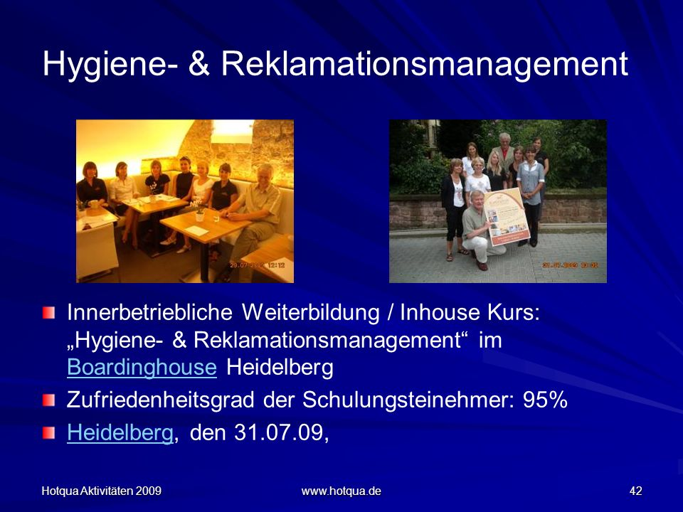 Hygiene- & Reklamationsmanagement