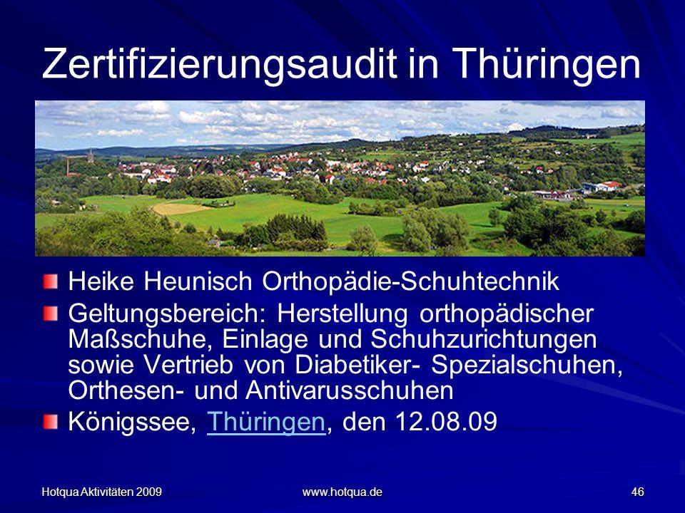 Zertifizierungsaudit in Thüringen