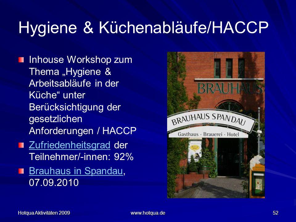 Hygiene & Küchenabläufe/HACCP