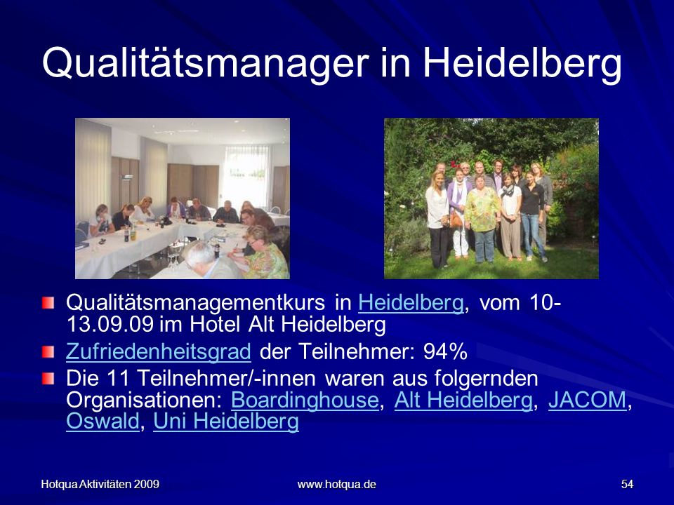 Qualitätsmanager in Heidelberg