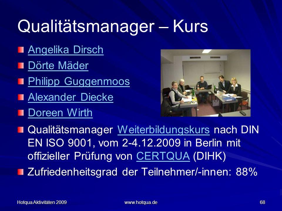 Qualitätsmanager – Kurs