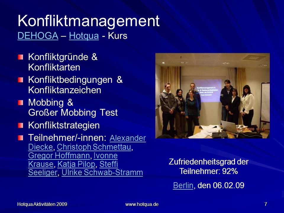 Konfliktmanagement DEHOGA – Hotqua - Kurs