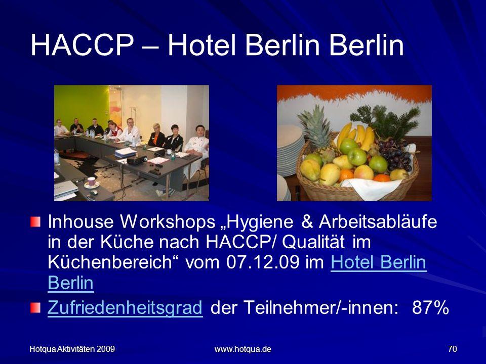 HACCP – Hotel Berlin Berlin