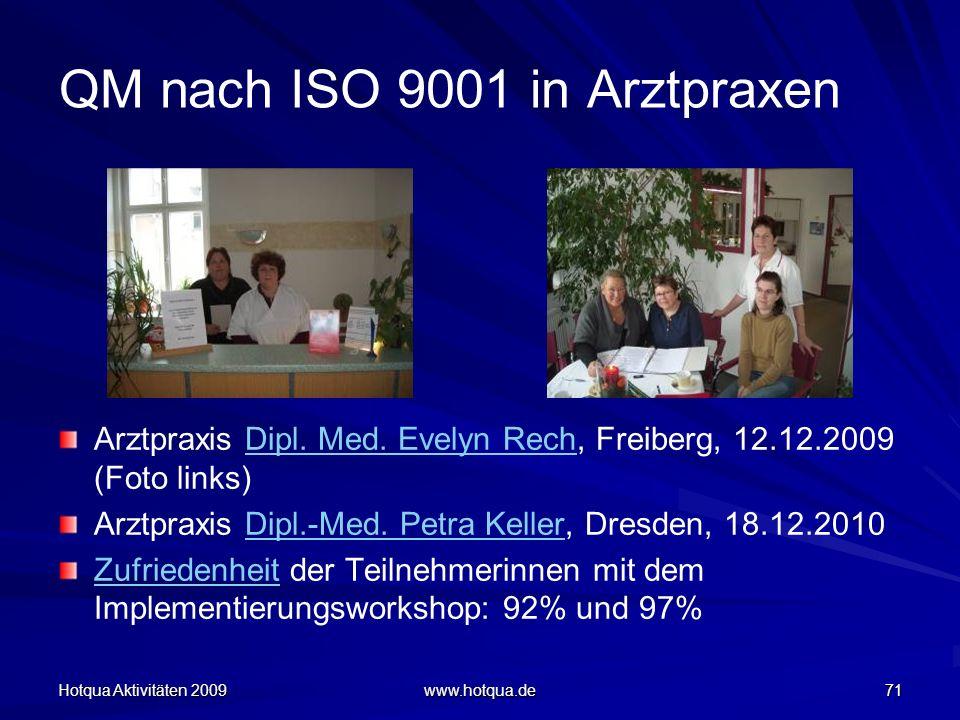 QM nach ISO 9001 in Arztpraxen