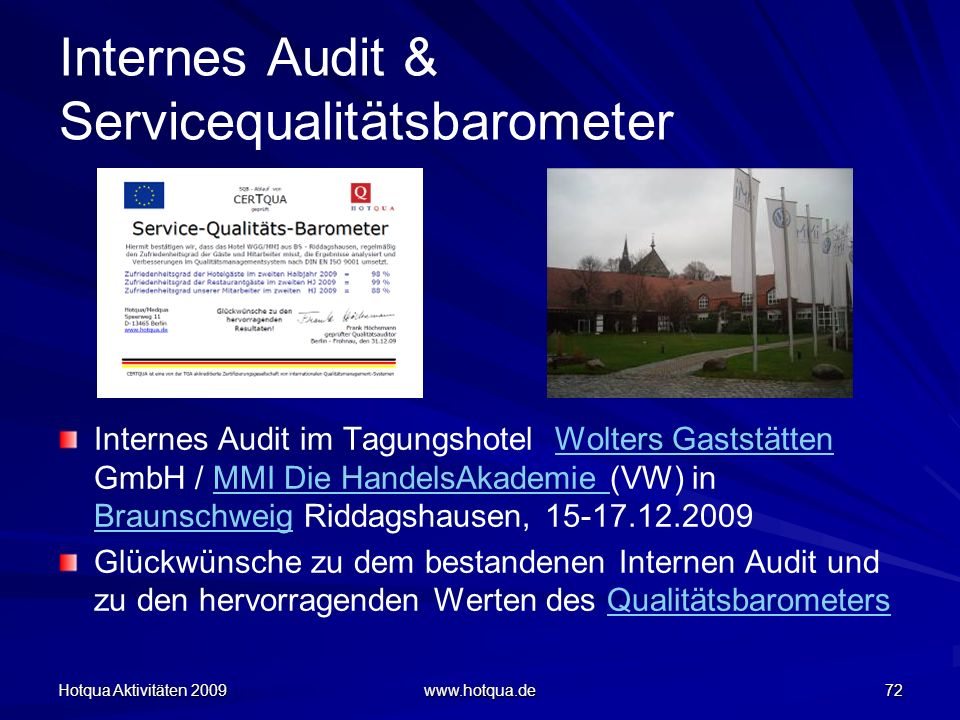 Internes Audit & Servicequalitätsbarometer