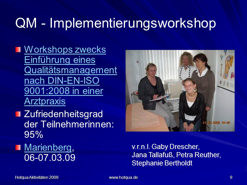 QM - Implementierungsworkshop