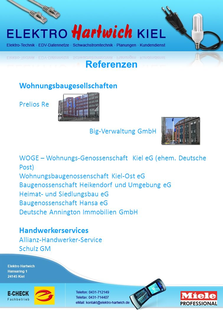 Referenzen Wohnungsbaugesellschaften Handwerkerservices Prelios Re