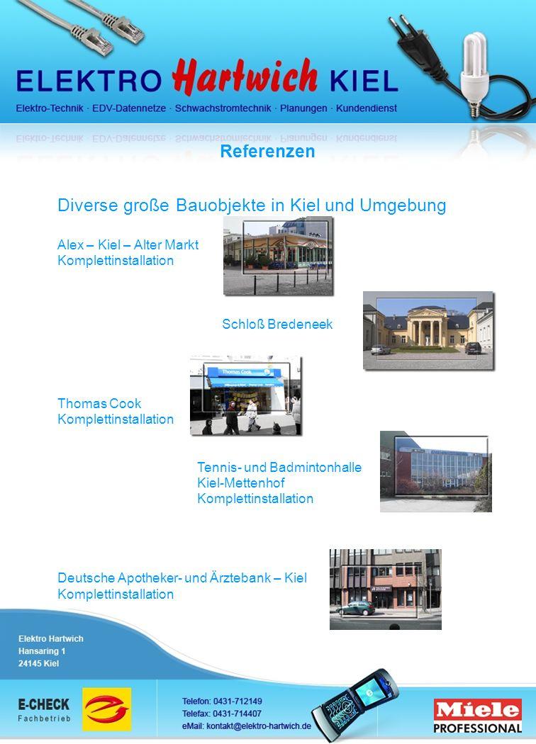 Diverse große Bauobjekte in Kiel und Umgebung