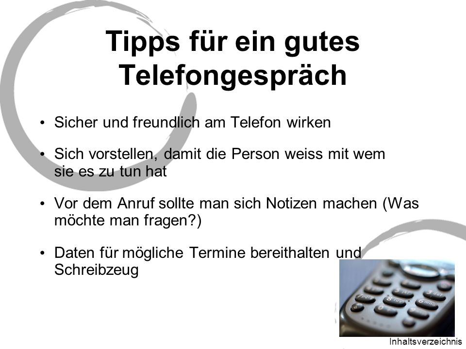 Tipps für ein gutes Telefongespräch