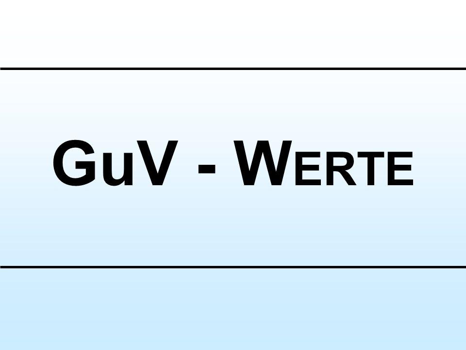 GuV - WERTE