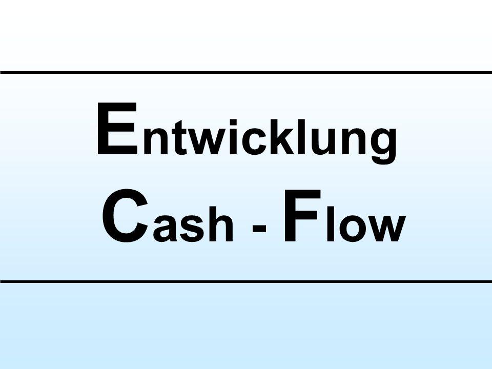Entwicklung Cash - Flow
