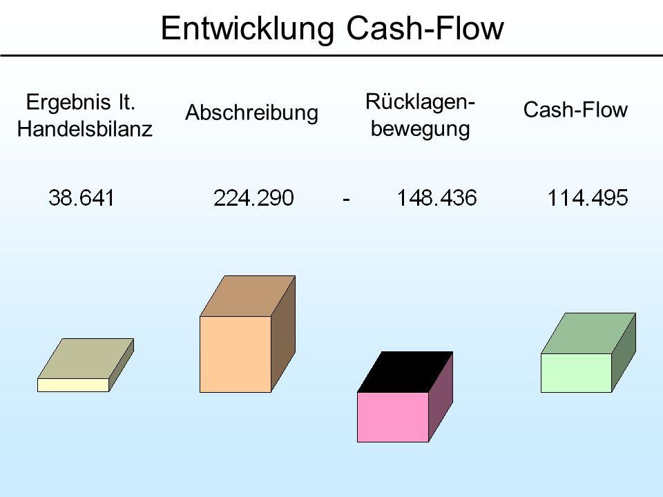 Entwicklung Cash-Flow
