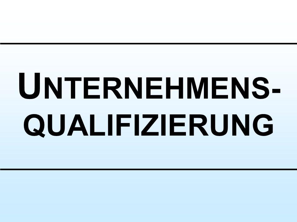 UNTERNEHMENS- QUALIFIZIERUNG