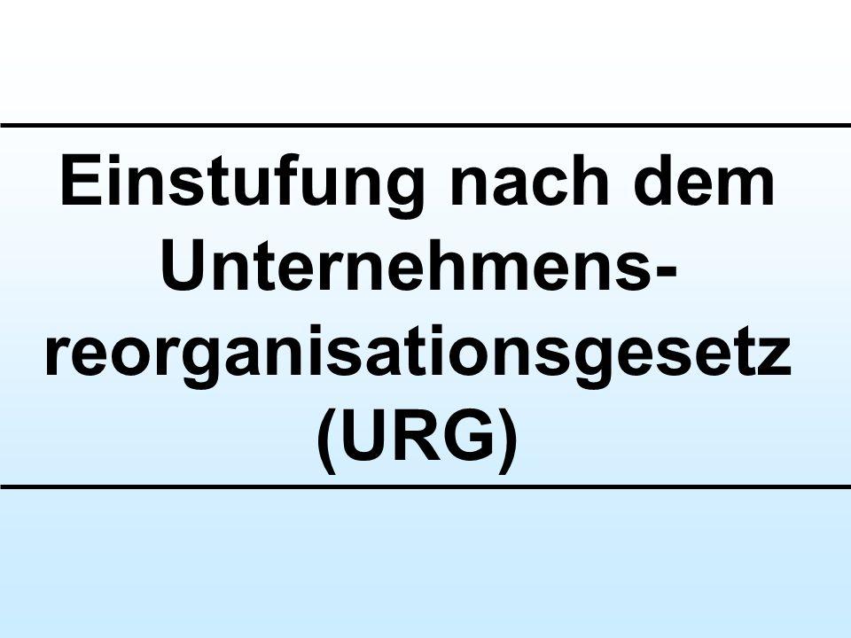 Einstufung nach dem Unternehmens-reorganisationsgesetz (URG)