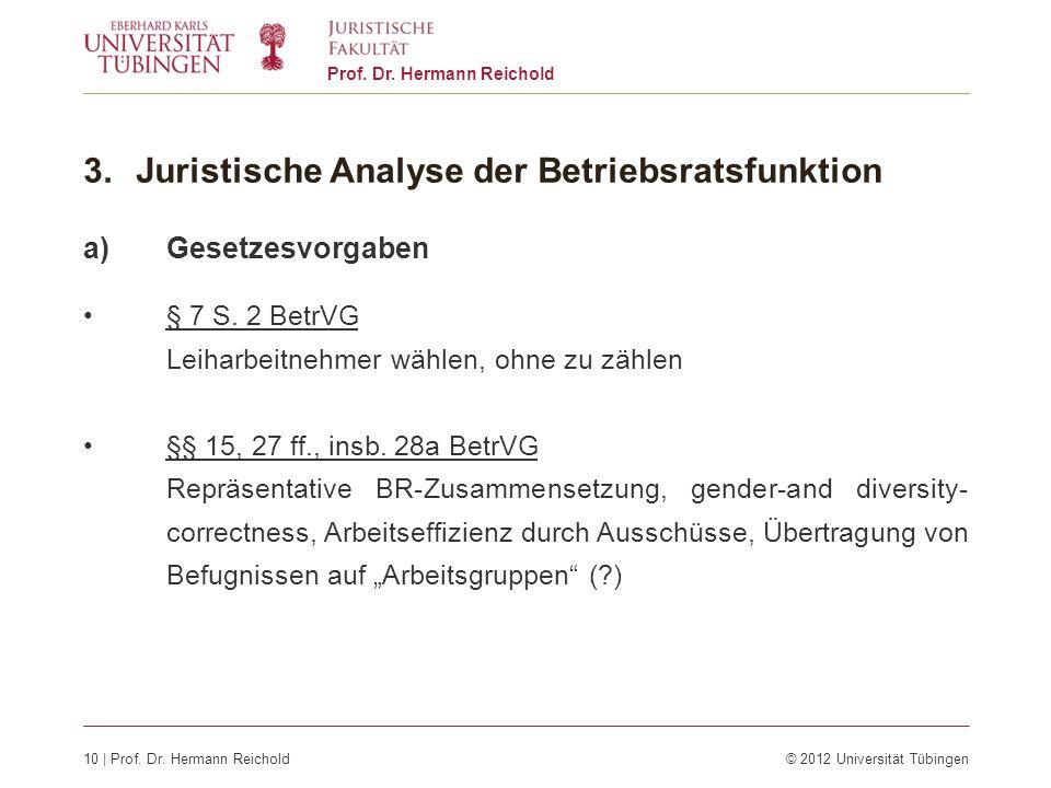 Juristische Analyse der Betriebsratsfunktion