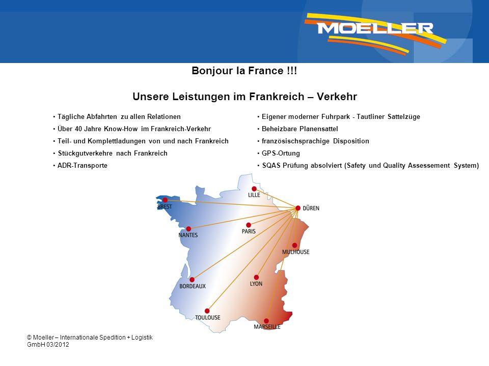 Bonjour la France !!! Unsere Leistungen im Frankreich – Verkehr