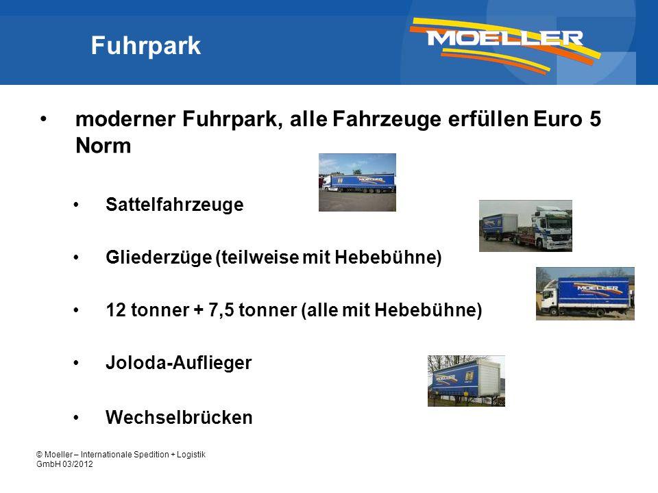 Fuhrpark moderner Fuhrpark, alle Fahrzeuge erfüllen Euro 5 Norm