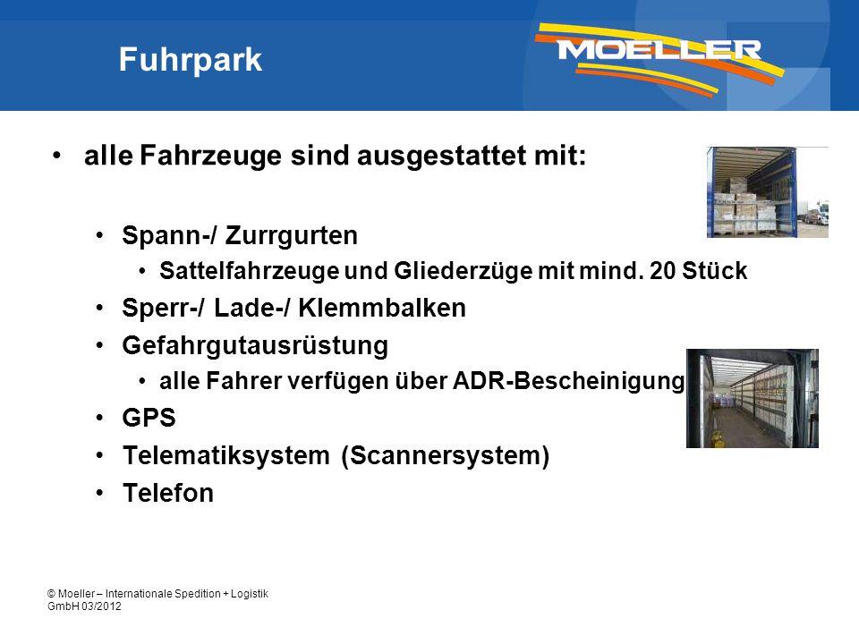 Fuhrpark alle Fahrzeuge sind ausgestattet mit: Spann-/ Zurrgurten